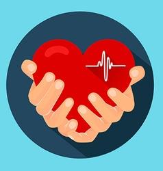 heart in the hands 2 vector image