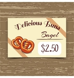 Price Tag Design Bagels vector image vector image