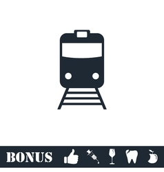 Train icon flat vector image vector image