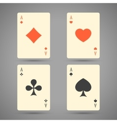 Aces Playing Cards Set of ace playing vector image vector image