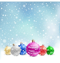 christmas bauble snow vector image vector image
