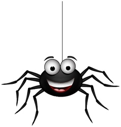Happy spider vector