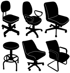 office chair silhouette vector image