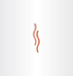 sausage icon sign vector image