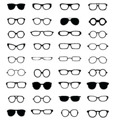 silhouettes of eyeglasses vector image