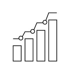 bars statistics infographic icon vector image