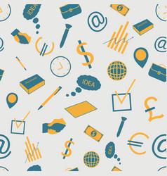 Business seamless pattern vector
