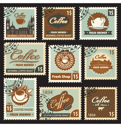 coffee postal vector image