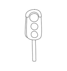 dotted shape traffic light object to urban caution vector image