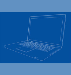 laptop sketch vector image