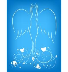 ornamental angel vector image vector image
