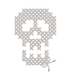 with the image of knit woven vector image