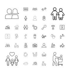 37 boy icons vector