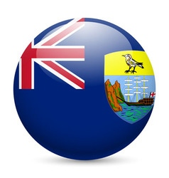 A badge in colours of saint helena flag vector image