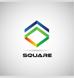 abstract colorful square shape company business vector image