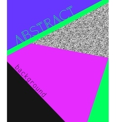 Abstract in retro 80s style vector