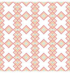 Abstract rhombs seamless pattern on white vector image