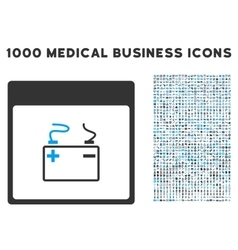Accumulator calendar page icon with 1000 medical vector
