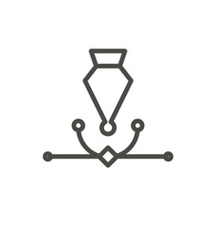 ai editor icon line anchor symbol vector image