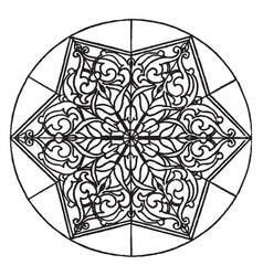 Arabian star-shape panel is an 18th century vector