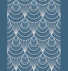 art deco blue pattern vector image