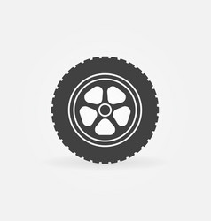 automobile wheel icon or design element vector image