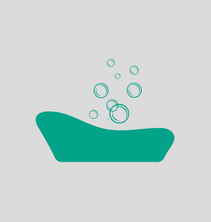 baby bathtub icon vector image