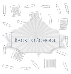 Back to School curved Badge vector