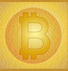 Bitcoin symbol on the abstract digital background vector