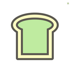 bread icon design for food graphic design element vector image