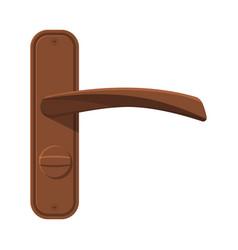 Bronze door handle house interior element flat vector