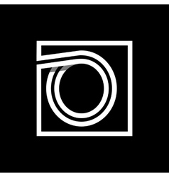 Capital letter O Monogram logo emblem vector