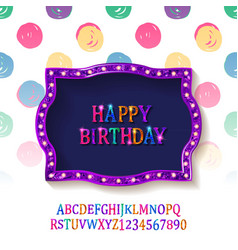 Children happy birthday greeting card vector
