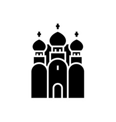 Church christianity - russian orthodox church icon vector