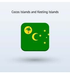 Cocos and Keeling Islands flag icon vector