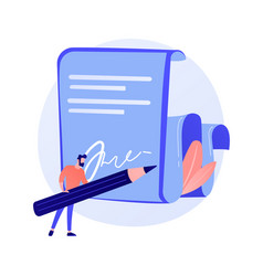 Contract signing concept metaphor vector