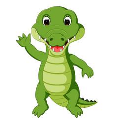 Cute crocodile cartoon vector