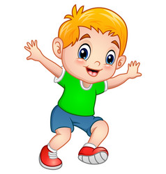 cute little boy posing vector image