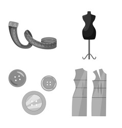Design of dressmaking and textile sign set vector