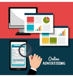 Digital advertising and marketing vector