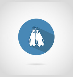 diving flippers icon with shadow vector image