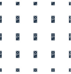 domino icon pattern seamless white background vector image