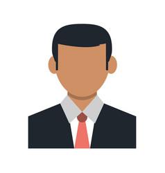Faceless businessman portrait icon image vector