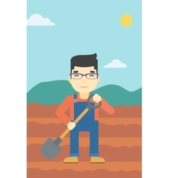 Farmer with shovel vector