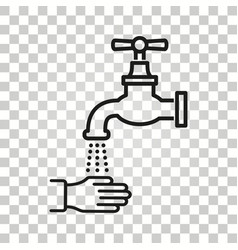 faucet icon vector image
