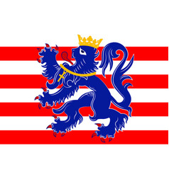 Flag of bruges in west flanders in belgium vector
