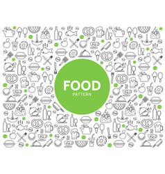 Food and drink pattern vector
