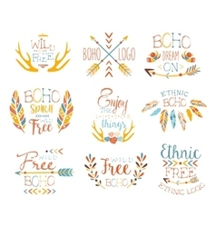 Free Spirit Hand Drawn Banner Set vector image