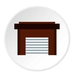 Garage icon flat style vector