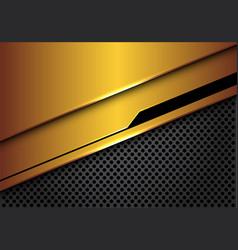 Gold black line futuristic dark grey circle mesh vector